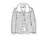 Desenho de Uma jaqueta para colorear