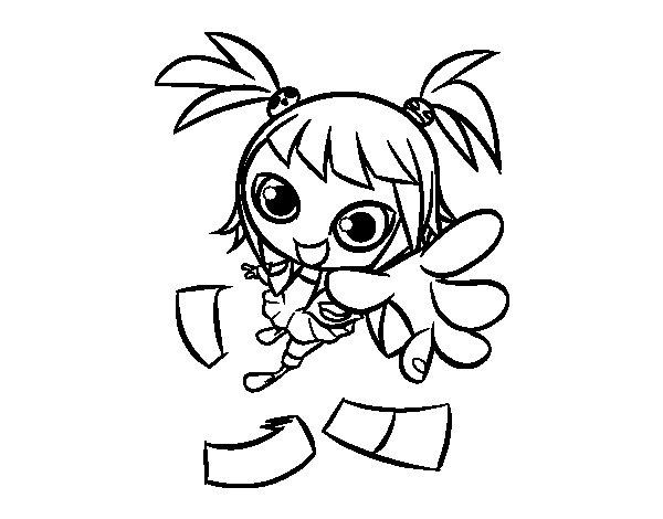 Desenho de Uma menina manga para Colorir