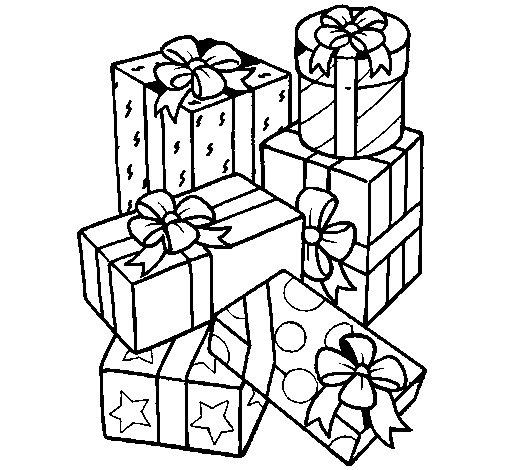 Desenho de Uma montanha de presentes para Colorir