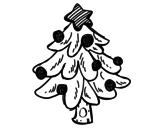 Desenho de Un árvore de Natal para colorear