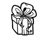 Desenho de Un presente de Natal para colorear