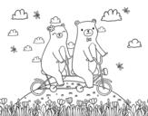 Desenho de Ursos do amor para colorear