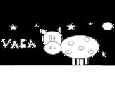 Desenho de Vaca e estrelas para colorear