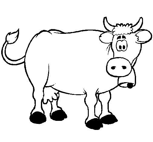 Desenho de Vaca leiteira para Colorir