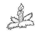 Desenho de Vela do Natal para colorear