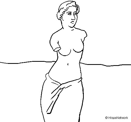 Desenho de Vênus de Milo para Colorir