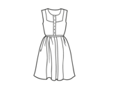 Desenho de Vestido do verão para colorear