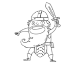 Dibujo de Viking ataque