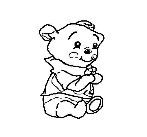 Desenho de Winnie para Colorir