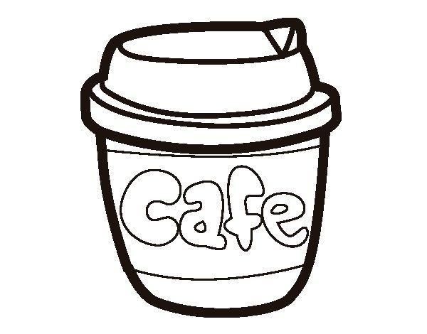 Desenho de Xícara de café para Colorir