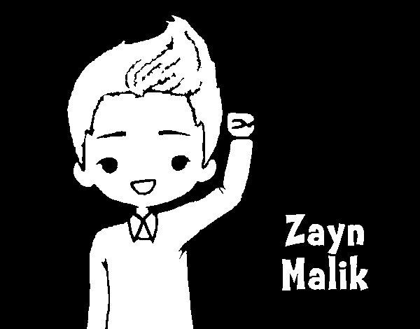 Desenho de Zayn Malik para Colorir